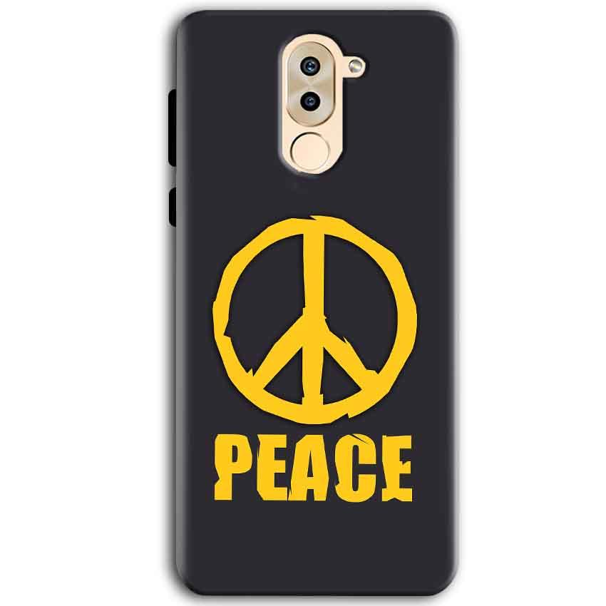 Huawei Honor 6X Mobile Covers Cases Peace Blue Yellow - Lowest Price - Paybydaddy.com