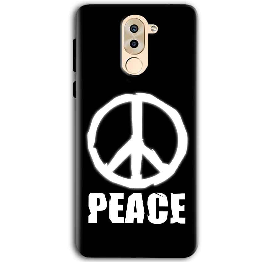 Huawei Honor 6X Mobile Covers Cases Peace Sign In White - Lowest Price - Paybydaddy.com
