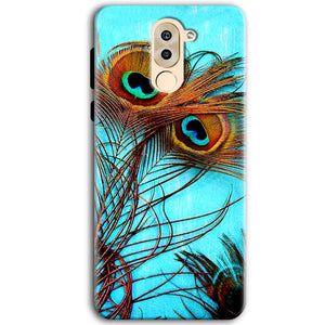 Huawei Honor 6X Mobile Covers Cases Peacock blue wings - Lowest Price - Paybydaddy.com