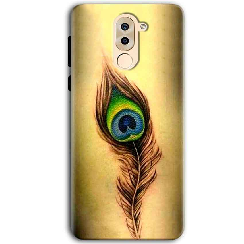 Huawei Honor 6X Mobile Covers Cases Peacock coloured art - Lowest Price - Paybydaddy.com