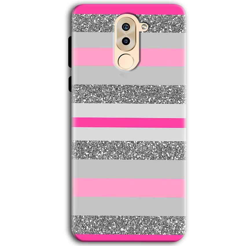 Huawei Honor 6X Mobile Covers Cases Pink colour pattern - Lowest Price - Paybydaddy.com