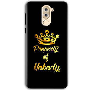 Huawei Honor 6X Mobile Covers Cases Property of nobody with Crown - Lowest Price - Paybydaddy.com