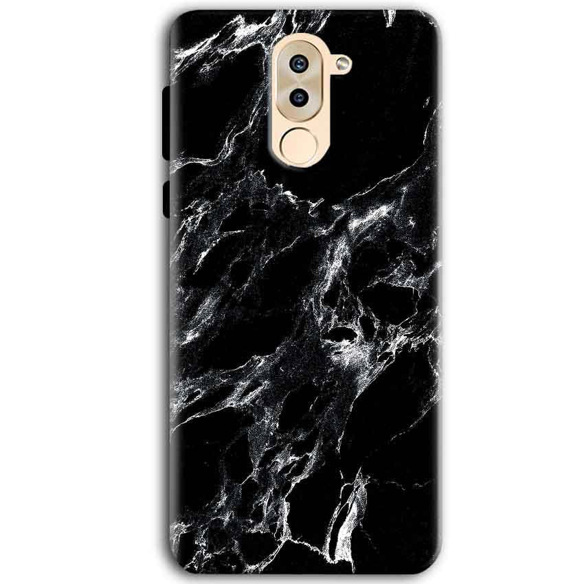 Huawei Honor 6X Mobile Covers Cases Pure Black Marble Texture - Lowest Price - Paybydaddy.com