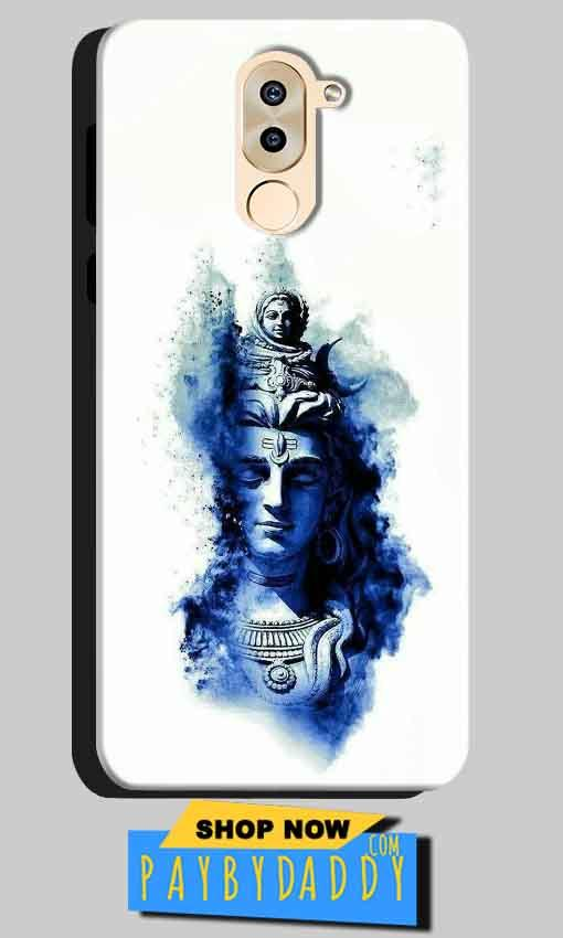 Huawei Honor 6X Mobile Covers Cases Shiva Blue White - Lowest Price - Paybydaddy.com