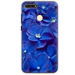 Huawei Honor 7A Mobile Covers Cases Blue flower - Lowest Price - Paybydaddy.com
