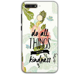 Huawei Honor 7A Mobile Covers Cases Do all things with kindness - Lowest Price - Paybydaddy.com