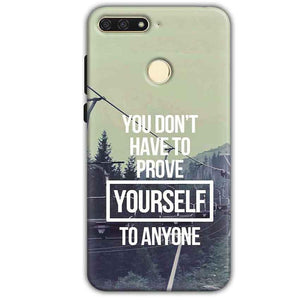 Huawei Honor 7A Mobile Covers Cases Donot Prove yourself - Lowest Price - Paybydaddy.com
