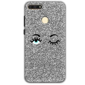 Huawei Honor 7A Mobile Covers Cases Glitter Eye Wink - Lowest Price - Paybydaddy.com