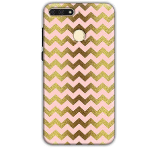 Huawei Honor 7A Mobile Covers Cases Golden Zig Zag Pattern - Lowest Price - Paybydaddy.com