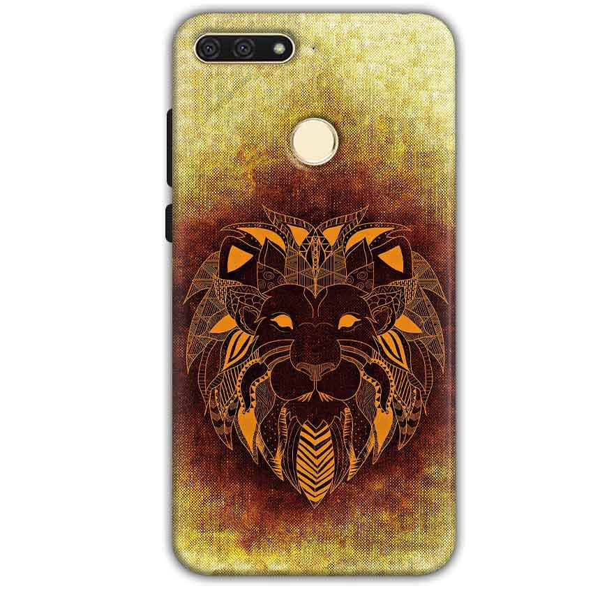 Huawei Honor 7A Mobile Covers Cases Lion face art - Lowest Price - Paybydaddy.com