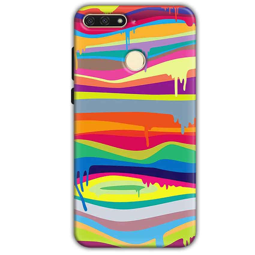 Huawei Honor 7A Mobile Covers Cases Melted colours - Lowest Price - Paybydaddy.com