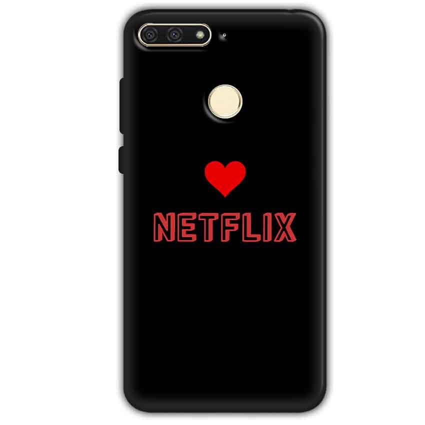 Huawei Honor 7A Mobile Covers Cases NETFLIX WITH HEART - Lowest Price - Paybydaddy.com