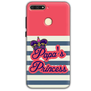 Huawei Honor 7A Mobile Covers Cases Papas Princess - Lowest Price - Paybydaddy.com