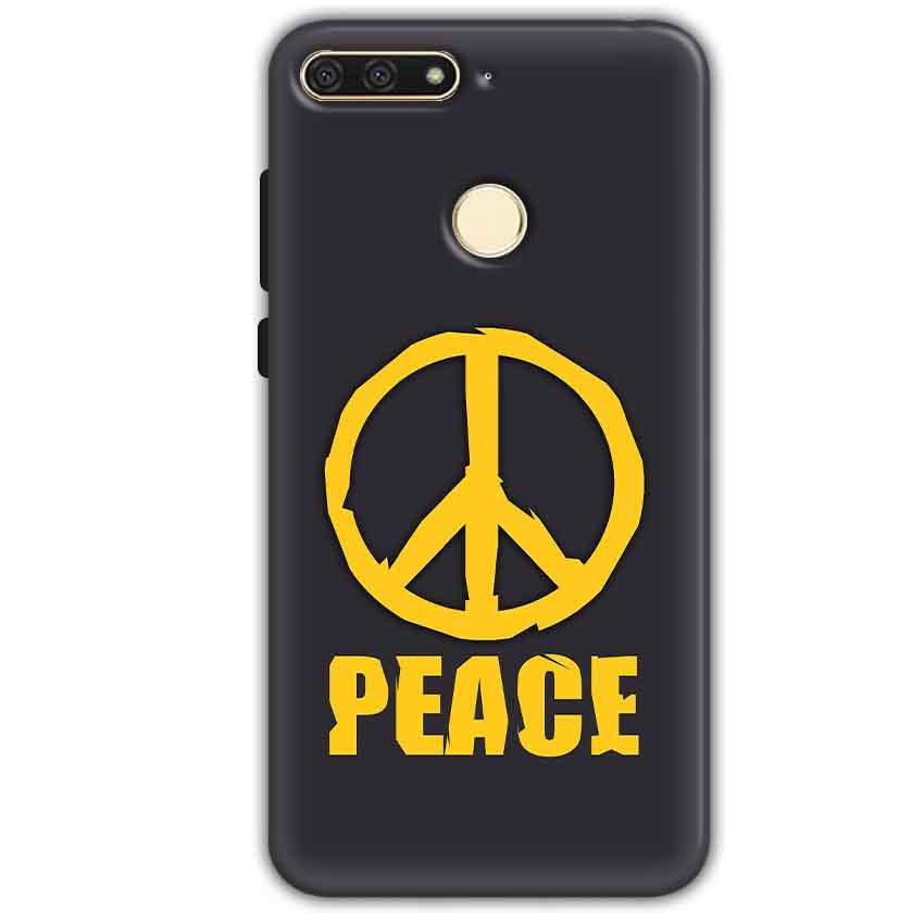 Huawei Honor 7A Mobile Covers Cases Peace Blue Yellow - Lowest Price - Paybydaddy.com