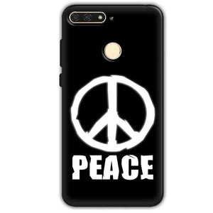 Huawei Honor 7A Mobile Covers Cases Peace Sign In White - Lowest Price - Paybydaddy.com