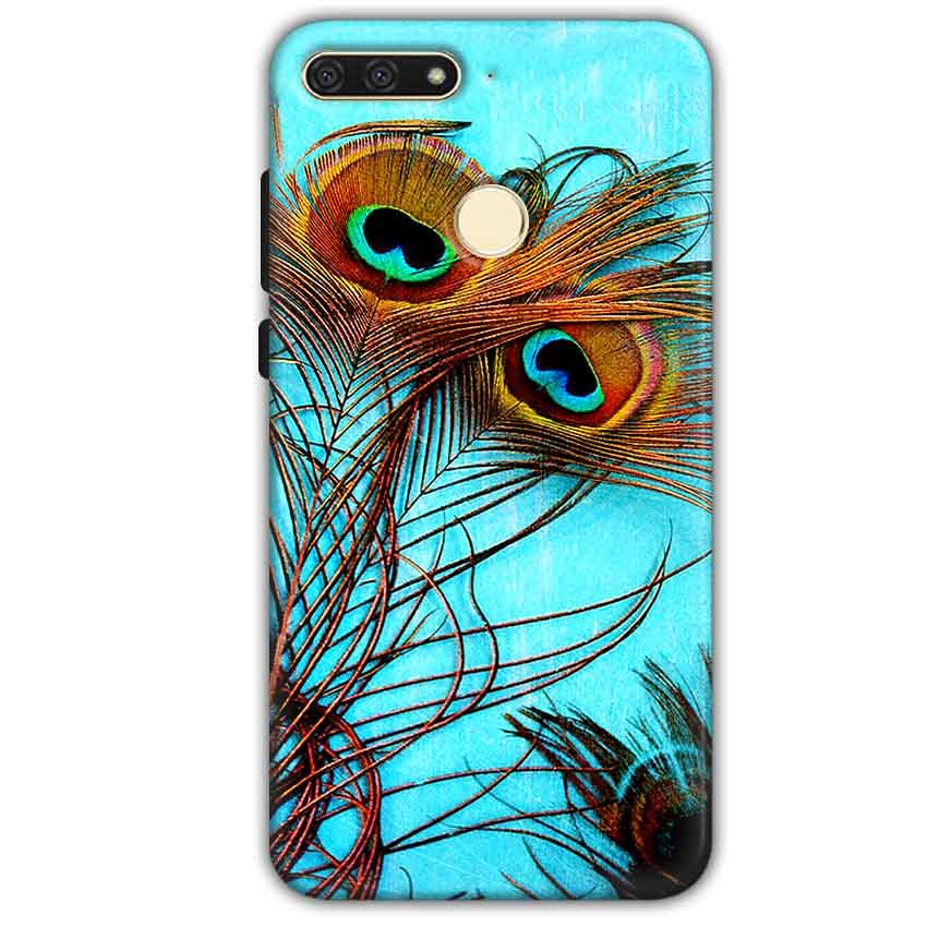 Huawei Honor 7A Mobile Covers Cases Peacock blue wings - Lowest Price - Paybydaddy.com