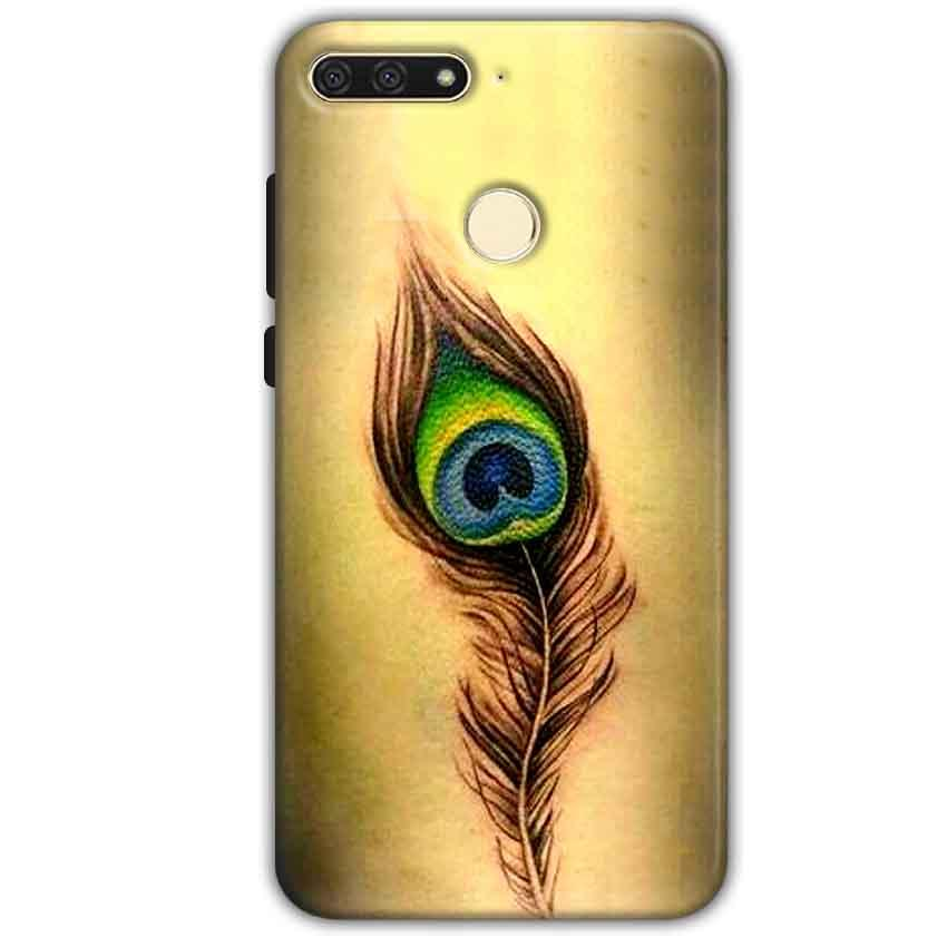 Huawei Honor 7A Mobile Covers Cases Peacock coloured art - Lowest Price - Paybydaddy.com