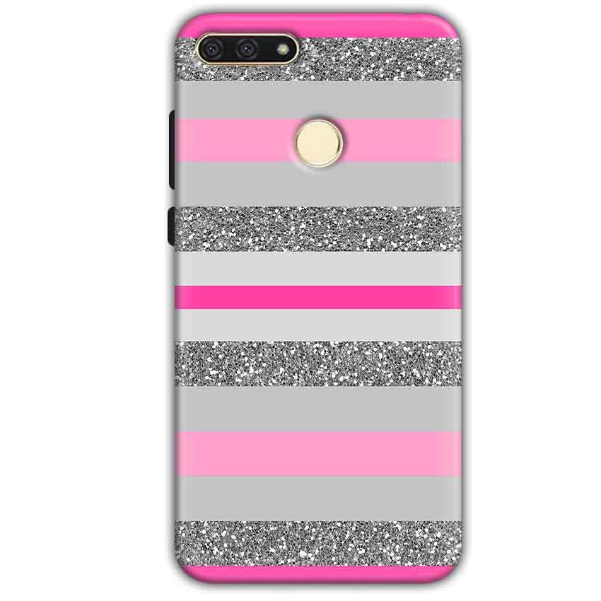 Huawei Honor 7A Mobile Covers Cases Pink colour pattern - Lowest Price - Paybydaddy.com