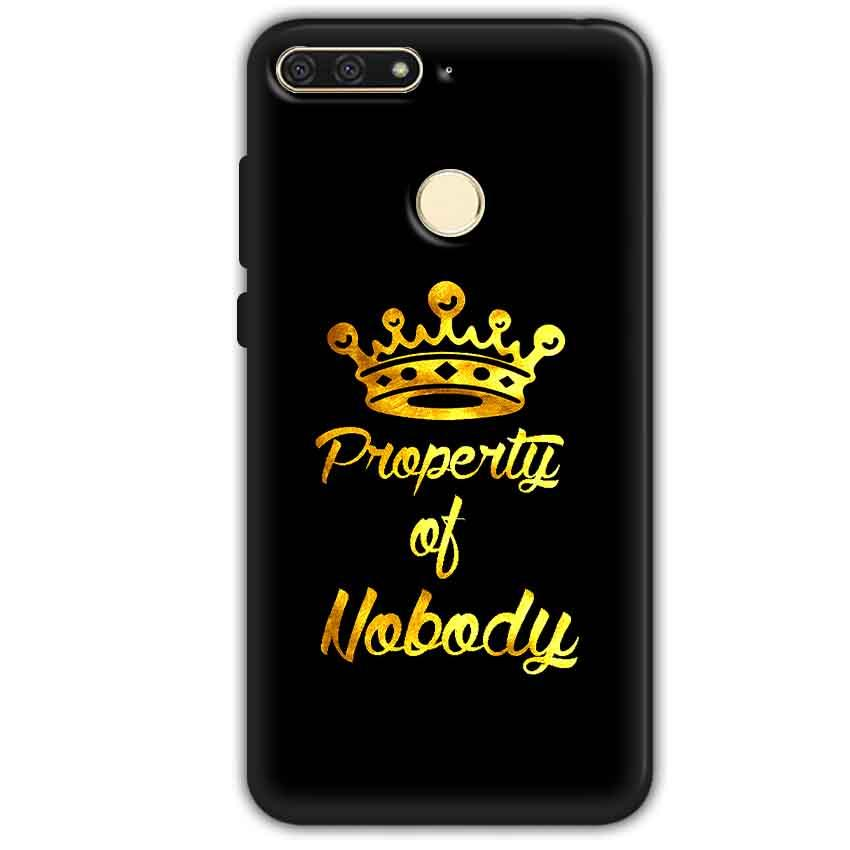 Huawei Honor 7A Mobile Covers Cases Property of nobody with Crown - Lowest Price - Paybydaddy.com