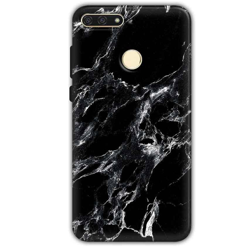 Huawei Honor 7A Mobile Covers Cases Pure Black Marble Texture - Lowest Price - Paybydaddy.com