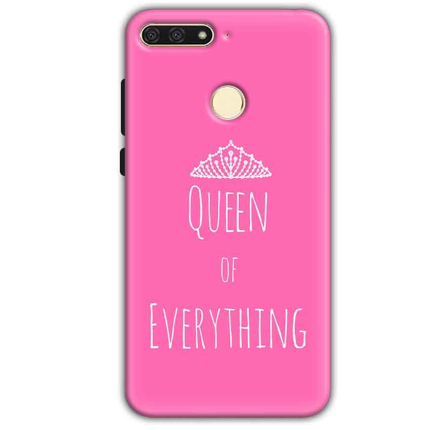 Huawei Honor 7A Mobile Covers Cases Queen Of Everything Pink White - Lowest Price - Paybydaddy.com