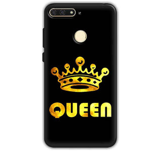 Huawei Honor 7A Mobile Covers Cases Queen With Crown in gold - Lowest Price - Paybydaddy.com