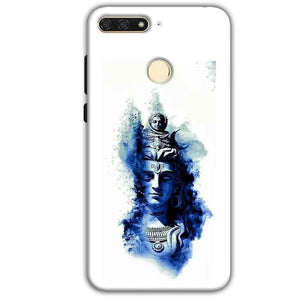 Huawei Honor 7A Mobile Covers Cases Shiva Blue White - Lowest Price - Paybydaddy.com