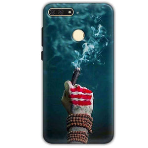 Huawei Honor 7A Mobile Covers Cases Shiva Hand With Clilam - Lowest Price - Paybydaddy.com