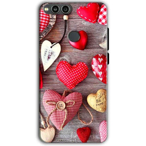 Huawei Honor 7X Mobile Covers Cases Hearts- Lowest Price - Paybydaddy.com