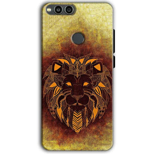 Huawei Honor 7X Mobile Covers Cases Lion face art - Lowest Price - Paybydaddy.com