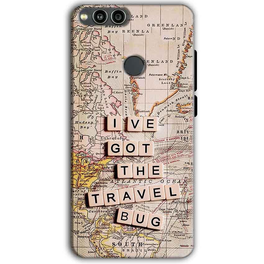 Huawei Honor 7X Mobile Covers Cases Live Travel Bug - Lowest Price - Paybydaddy.com
