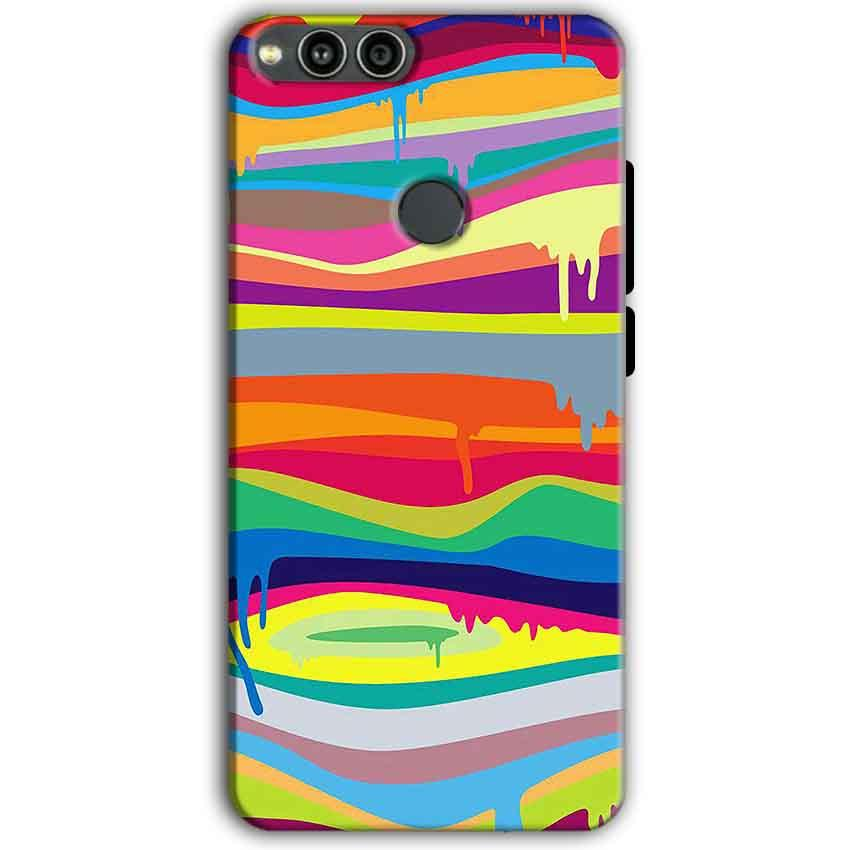 Huawei Honor 7X Mobile Covers Cases Melted colours - Lowest Price - Paybydaddy.com