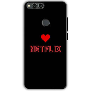 Huawei Honor 7X Mobile Covers Cases NETFLIX WITH HEART - Lowest Price - Paybydaddy.com
