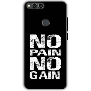 Huawei Honor 7X Mobile Covers Cases No Pain No Gain Black And White - Lowest Price - Paybydaddy.com