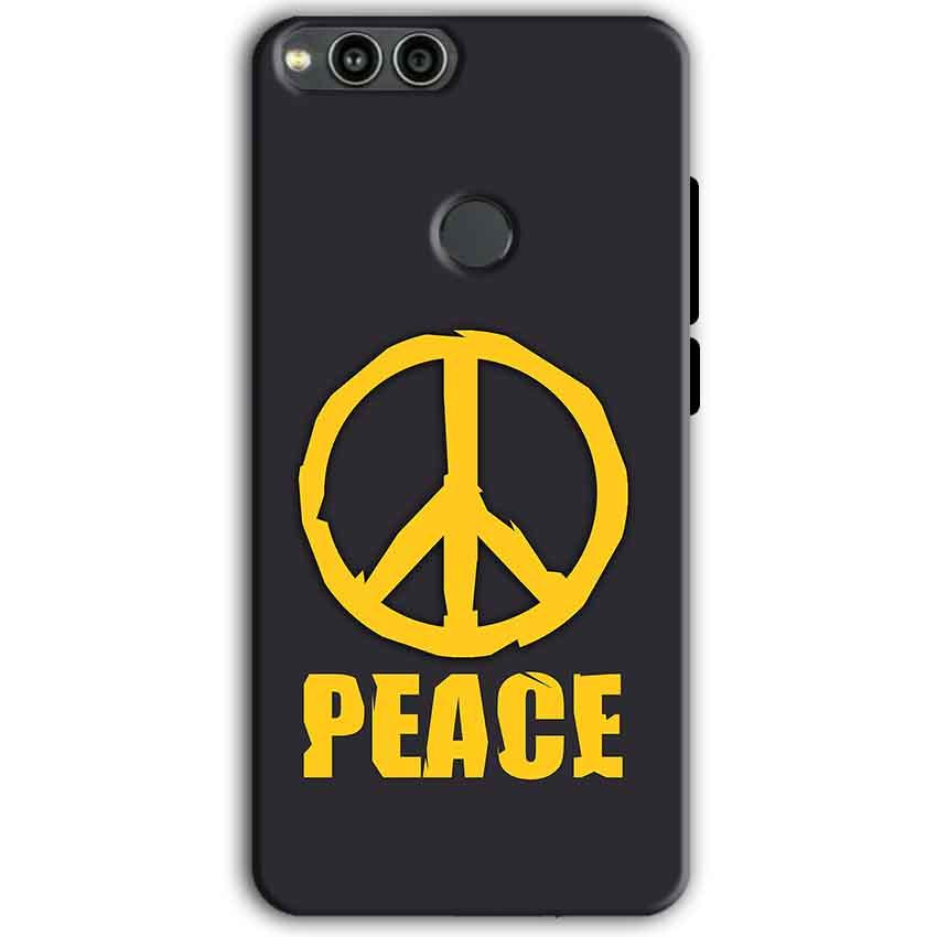 Huawei Honor 7X Mobile Covers Cases Peace Blue Yellow - Lowest Price - Paybydaddy.com