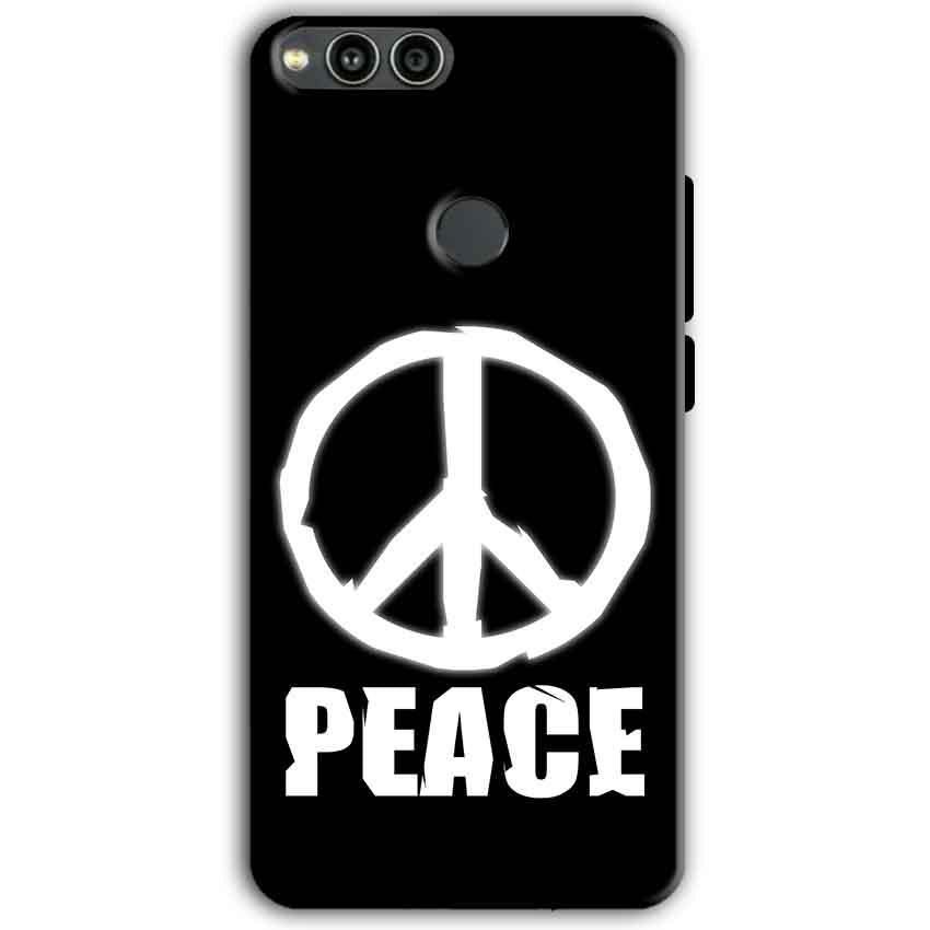 Huawei Honor 7X Mobile Covers Cases Peace Sign In White - Lowest Price - Paybydaddy.com