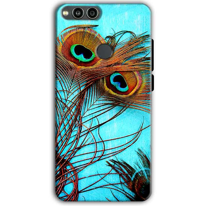 Huawei Honor 7X Mobile Covers Cases Peacock blue wings - Lowest Price - Paybydaddy.com