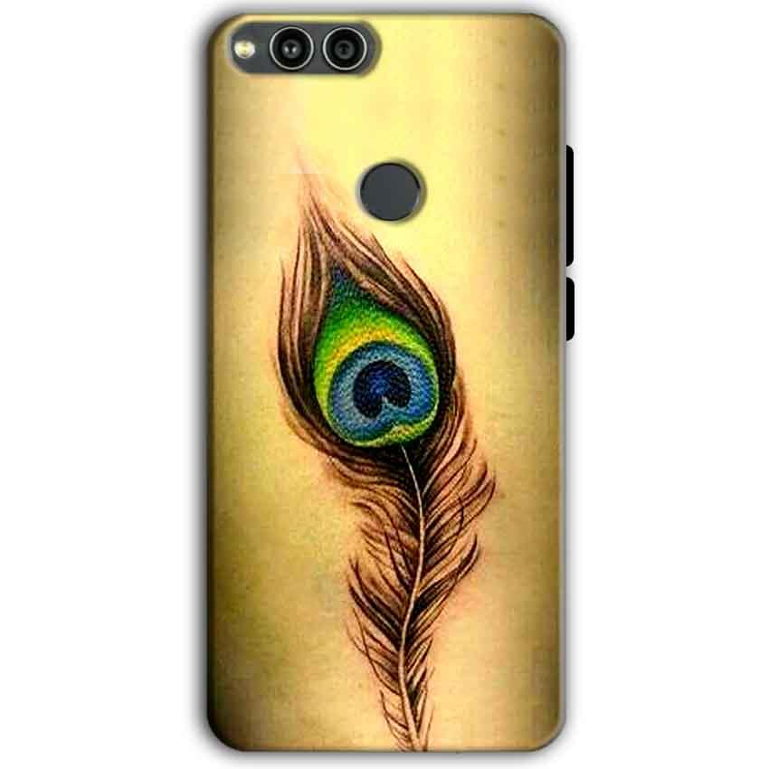 Huawei Honor 7X Mobile Covers Cases Peacock coloured art - Lowest Price - Paybydaddy.com