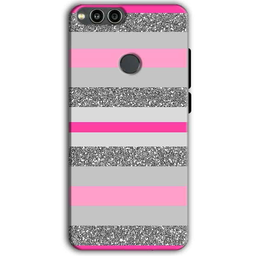 Huawei Honor 7X Mobile Covers Cases Pink colour pattern - Lowest Price - Paybydaddy.com