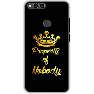 Huawei Honor 7X Mobile Covers Cases Property of nobody with Crown - Lowest Price - Paybydaddy.com