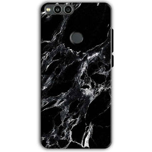 Huawei Honor 7X Mobile Covers Cases Pure Black Marble Texture - Lowest Price - Paybydaddy.com