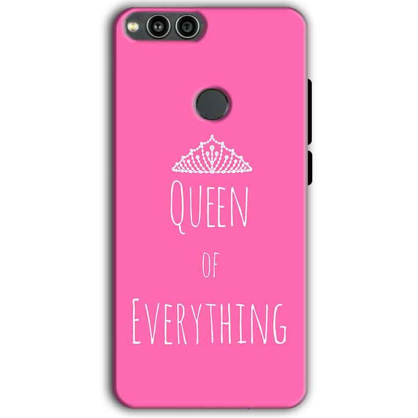 Huawei Honor 7X Mobile Covers Cases Queen Of Everything Pink White - Lowest Price - Paybydaddy.com