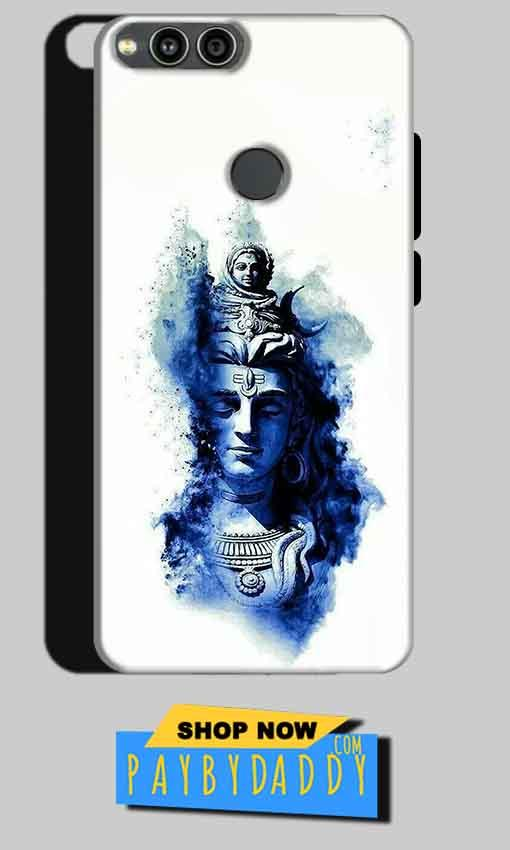 Huawei Honor 7X Mobile Covers Cases Shiva Blue White - Lowest Price - Paybydaddy.com