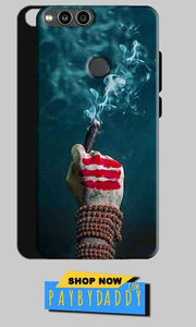 Huawei Honor 7X Mobile Covers Cases Shiva Hand With Clilam - Lowest Price - Paybydaddy.com