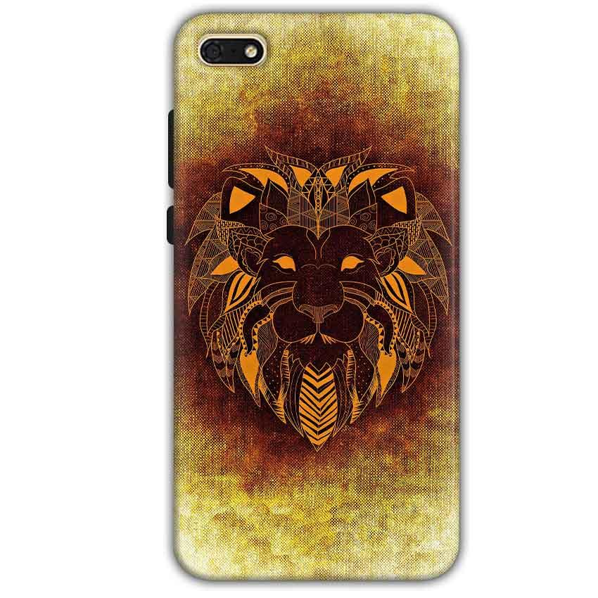 Huawei Honor 7s Mobile Covers Cases Lion face art - Lowest Price - Paybydaddy.com