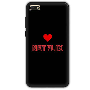 Huawei Honor 7s Mobile Covers Cases NETFLIX WITH HEART - Lowest Price - Paybydaddy.com