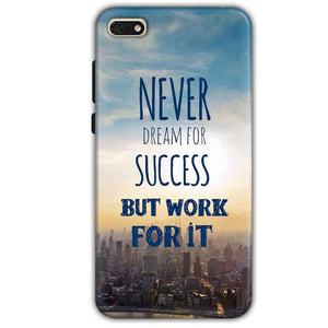 Huawei Honor 7s Mobile Covers Cases Never Dreams For Success But Work For It Quote - Lowest Price - Paybydaddy.com