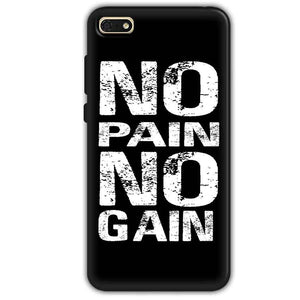 Huawei Honor 7s Mobile Covers Cases No Pain No Gain Black And White - Lowest Price - Paybydaddy.com
