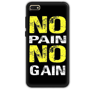 7568a91a0a2f Huawei Honor 7s Mobile Covers Cases No Pain No Gain Yellow Black - Lowest  Price - Paybydaddy.com