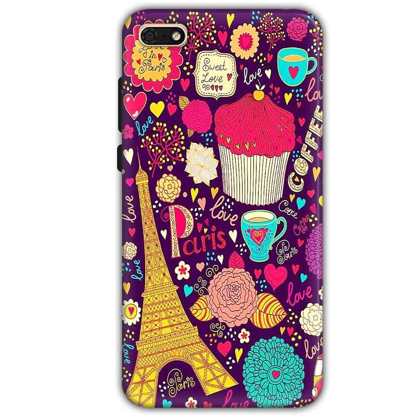 Huawei Honor 7s Mobile Covers Cases Paris Sweet love - Lowest Price - Paybydaddy.com